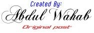 Karya Asli Abdul Wahab